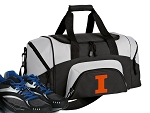 Small University of Illinois Gym Bag or Small Illini Duffel