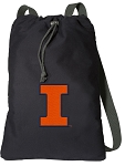 University of Illinois Cotton Drawstring Bag Backpacks