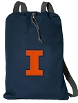 University of Illinois Illini Cotton Drawstring Bag Backpacks Cool Navy