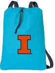 University of Illinois Cotton Drawstring Bag Backpacks Blue