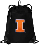 University of Illinois Drawstring Backpack-MESH & MICROFIBER