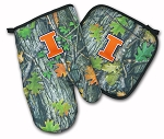 University of Illinois Real Camo Oven Mitt and Logo Potholder Set