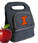 University of Illinois Lunch Bag Black