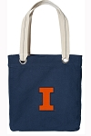 University of Illinois Illini Tote Bag RICH COTTON CANVAS Navy