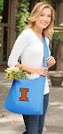 University of Illinois Tote Bag Sling Style Teal