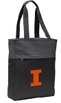 University of Illinois Tote Bag Everyday Carryall Black