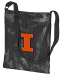 University of Illinois CrossBody Bag COOL Hippy Bag