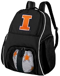 University of Illinois Soccer Backpack or Illini Volleyball Bag For Boys or Girls