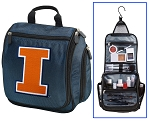 University of Illinois Illini Cosmetic Bag or Shaving Kit Travel Bag Blue