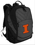University of Illinois Deluxe Laptop Backpack Black