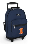 University of Illinois Illini Rolling Navy Backpacks