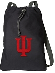 IU Indiana University Cotton Drawstring Bag Backpacks