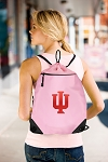 IU Indiana University Drawstring Bag Mesh and Microfiber Pink