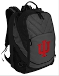 IU Indiana University Deluxe Laptop Backpack Black
