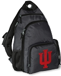 IU Indiana University Backpack Cross Body Style Gray