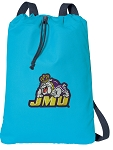 JMU Cotton Drawstring Bag Backpacks Blue