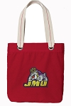 James Madison Tote Bag RICH COTTON CANVAS Red