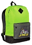 James Madison University Backpack HI VISIBILITY Green JMU CLASSIC STYLE