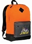 JMU Backpack HI VISIBILITY Orange James Madison University CLASSIC STYLE