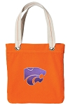 Kansas State Tote Bag RICH COTTON CANVAS Orange