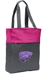 Kansas State Tote Bag Everyday Carryall Pink