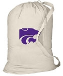 Kansas State Laundry Bag Natural
