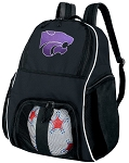 Kansas State Soccer Backpack or K-State Volleyball Bag For Boys or Girls