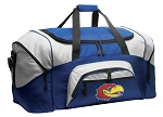 University of Kansas Duffle Bag or KU Jayhawks Gym Bags Blue