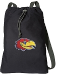 Kansas Jayhawks Cotton Drawstring Bag Backpacks