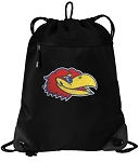 Kansas Jayhawks Drawstring Backpack-MESH & MICROFIBER