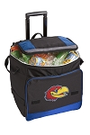 Kansas Jayhawks Rolling Cooler Bag Blue