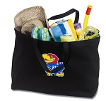 University of Kansas Jumbo Tote Bag Black