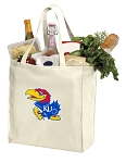 KU Jayhawks Shopping Bags Canvas
