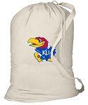 University of Kansas Laundry Bag Natural