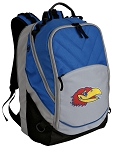 Kansas Jayhawks Deluxe Laptop Backpack Blue