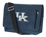 University of Kentucky Wildcats Messenger Bags STYLISH WASHED COTTON CANVAS Blue
