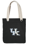 Kentucky Wildcats Tote Bag RICH COTTON CANVAS Black