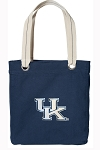 University of Kentucky Tote Bag RICH COTTON CANVAS Navy