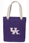 Ladies Kentucky Wildcats Tote Bag RICH COTTON CANVAS Purple