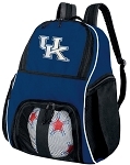 University of Kentucky Soccer Ball Backpack or UK Wildcats Volleyball Practice Gear Bag Navy