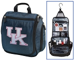 UK Wildcats Hanging Travel Toiletry Bag or Womens University of Kentucky Shaving Kit Organizer for Him Navy