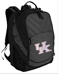 Pink UK Wildcats Logo Deluxe Laptop Backpack Black