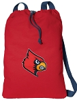 UofL Cotton Drawstring Bag Backpacks Cool RED
