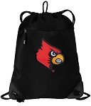 Louisville Cardinals Drawstring Backpack-MESH & MICROFIBER