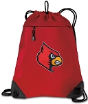 UofL Drawstring Backpack MESH & MICROFIBER Red