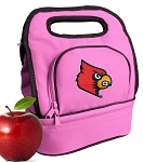 Louisville Cardinals Lunch Bag Pink