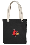Louisville Cardinals Tote Bag RICH COTTON CANVAS Black