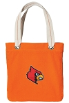 Louisville Cardinals Tote Bag RICH COTTON CANVAS Orange