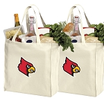 University of Louisville Shopping Bags Louisville Cardinals Grocery Bags 2 PC SET