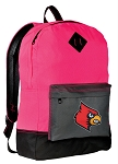 Louisville Cardinals Backpack HI VISIBILITY University of Louisville CLASSIC STYLE For Her Girls Women
